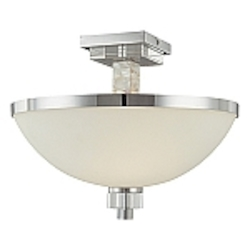 Cashelmara Design 2-Light 16'' Natural Mosaic Shell Semi Flush Mount 4247-77