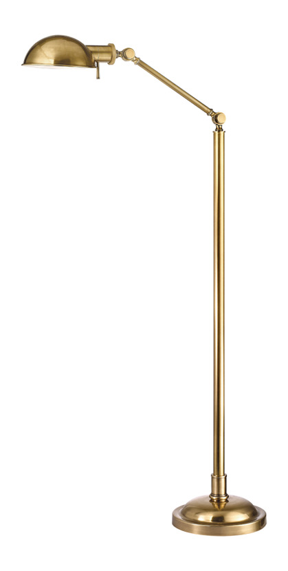 Hudson Valley 1 Light Floor Lamp Vintage Brass L435 Vb