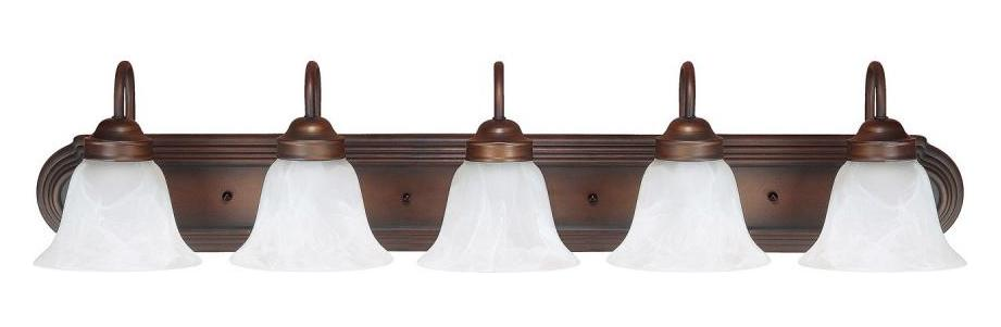 burnished bronze 5 light bathroom vanity fixture. Black Bedroom Furniture Sets. Home Design Ideas