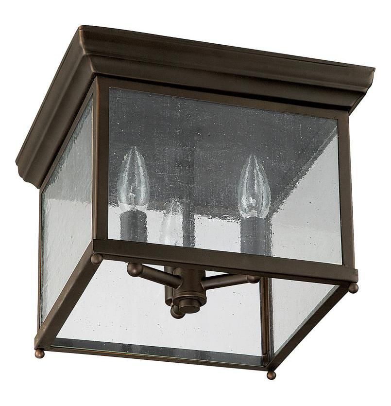 capital 9546ob old bronze 3 light outdoor flush mount ceiling fixture