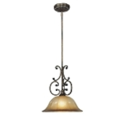 "Brompton Collection 1-Light 26"" Brompton Bronze Pendant with Dover Mist Glass 4331-561"
