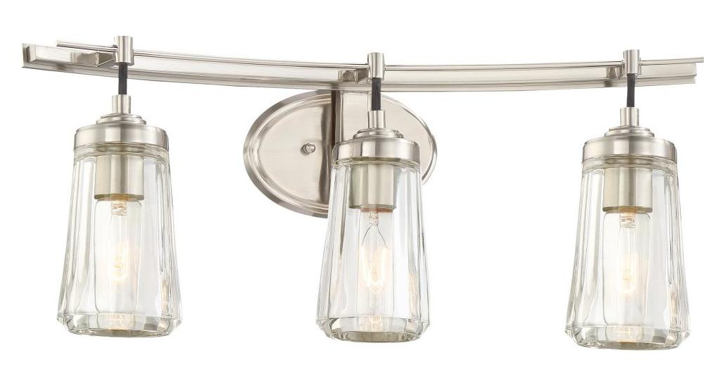 Minka Lavery 3 Light Bath Bar In Brushed Nickel W Clear Glass Brushed Nickel 2303 84 From Poleis