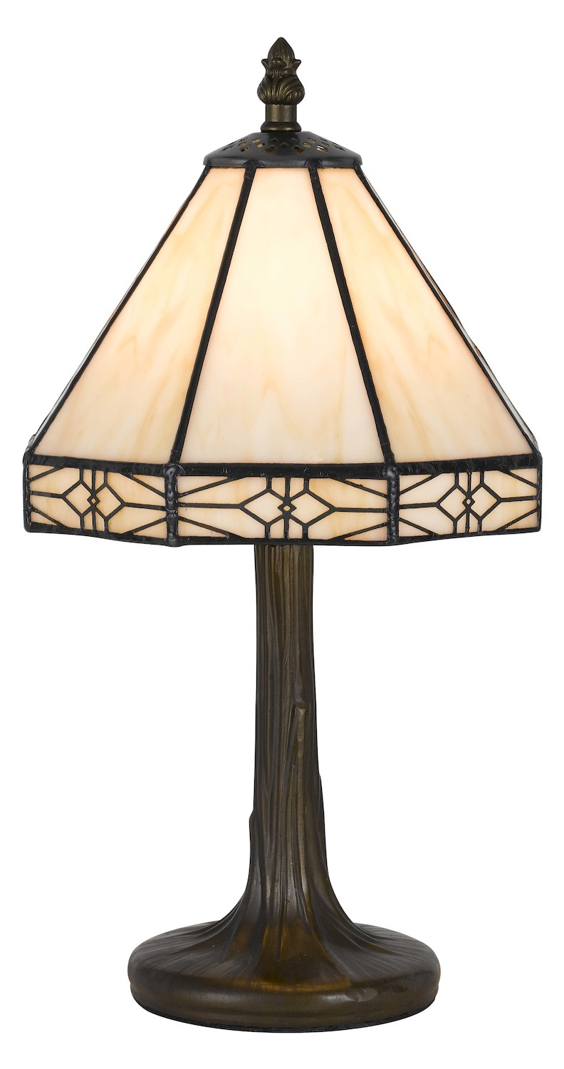Cal Lighting Dark Bronze Tiffany 1 Light Pedestal Base