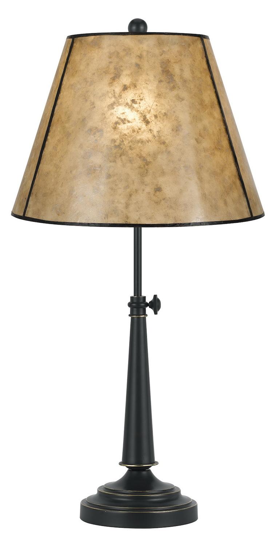 Cal Lighting Black Springs 1 Light Pedestal Base Table