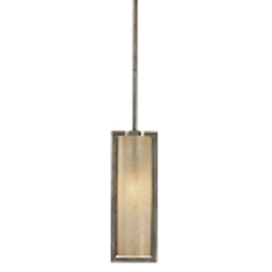 "Clarte Collection 1-Light 4"" Patina Iron Mini Pendant with Deep Spumanti Lace glass 4391-573"