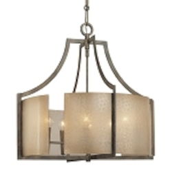 "Clarte Collection 6-Light 24"" Patina Iron Chandelier with Deep Spumanti Lace glass 4396-573"