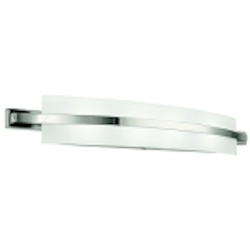 "Freeport 4-Light 36"" Polished Nickel Bath Fixture with Etched Linear Glass 45088PN"