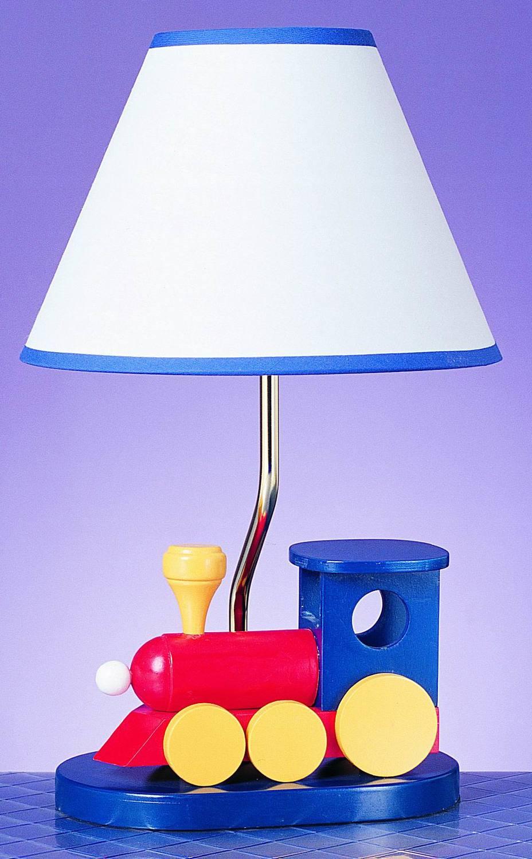Cal Lighting 60w Choo Choo Train Lamp Blue Bo 373 From