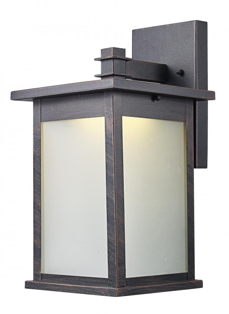 Trans Globe Laurel 12 5in High Wall Lantern Rust Led 40910 Rt