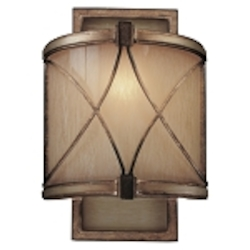 "Aston Court Collection 1-Light 12"" Aston Court Bronze Wall Sconce with Avorio Mezzo Glass 4740-206"