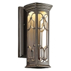 "Franceasi Collection 1-Light 14"" Olde Bronze LED Outdoor Wall Sconce 49226OZLED"