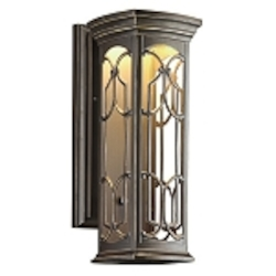 "Franceasi Collection 1-Light 18"" Olde Bronze LED Outdoor Wall Sconce 49227OZLED"