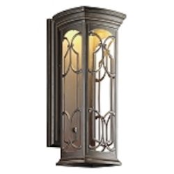 "Franceasi Collection 1-Light 22"" Olde Bronze LED Outdoor Wall Sconce 49228OZLED"