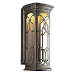 "Franceasi Collection 1-Light 25"" Olde Bronze LED Outdoor Wall Sconce 49229OZLED"