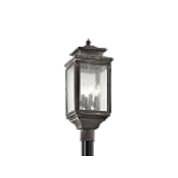 Kichler Four Light Weathered Zinc Post Light - 49506WZC