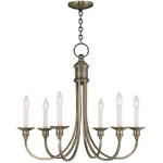 "Cranford Collection 8-Light 30"" Antique Brass Chandelier 5148-01"