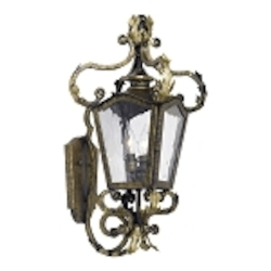 "Acadiana Collection 2-Light 24"" Castle Bronze Wall Lantern with Water Glass 5780-CB"