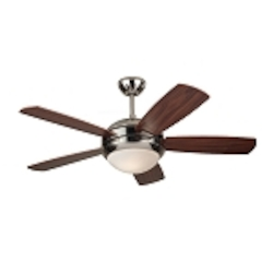 "Discus II 44"" Polished Nickel Ceiling Fan with Light 5DI44PND"