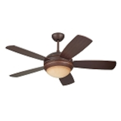 "Discus II 44"" Roman Bronze Ceiling Fan with Light 5DI44RBD"