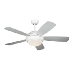 "Discus II 44"" White Ceiling Fan with Light 5DI44WHD"