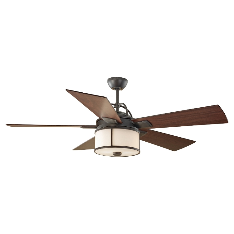 "Dakota 52"" Espresso Indoor Outdoor Ceiling Fan with Energy"