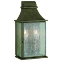 "Revere Collection 2-Light 10"" Flemish Outdoor Wall Lantern with Water Seedy Glass 61314-06"