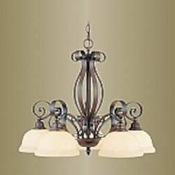 Manchester Collection Imperial Bronze Finish Chandelier – 6145-58