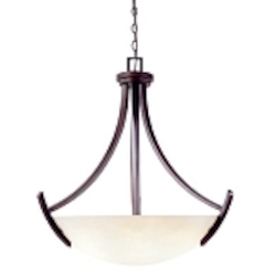 "Beyond Modern Collection 5-Light 28"" Weathered Copper Pendant with Etruscan Glass 61519-56"