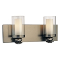 "Harvard Ct. Collection 2-Light 15"" Harvard Ct. Bronze Wall Sconce with Clear and Etched Opal Glass 6362-281"