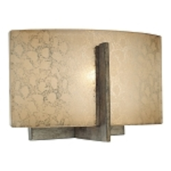 "Clarte Collection 1-Light 8"" Patina Iron Wall Sconce with Deep Spumanti Lace Glass 6391-573"