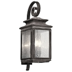 Kichler Three Light Weathered Zinc Wall Lantern - 49502WZC