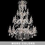 Victorian Design 24-Light 63'' Chrome, Gold, or Black Chandelier with European or Swarovski Crystals SKU# 10520
