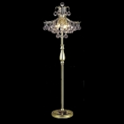 "Toureg Collection 6-Light 50"" Gold Crystal Floor Lamp 8000FL16G"