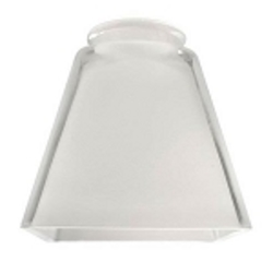 "Ellington 2.25"" Frosted/Polished Ceiling Fan Light Kit Square Shaped Glass 800P"