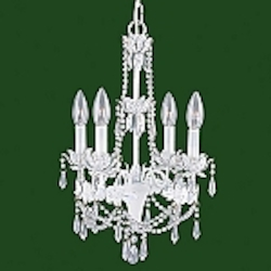 "Athena Collection 4-Light 20"" White Chandelier 8184-60"