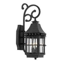 "Taos Collection 2-Light 19"" Espresso Wall Lantern with Seeded Glass 8449-E"