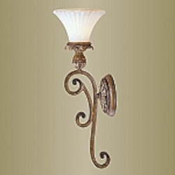 Savannah Collection 1-Light 23'' Venetian Patina Wall Sconce 8451-57