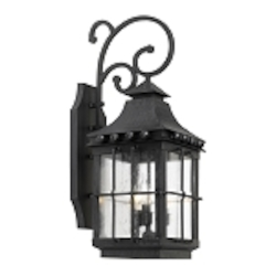 "Taos Collection 3-Light 26"" Espresso Wall Lantern with Seeded Glass 8451-E"