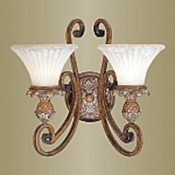 Savannah Collection 2-Light 15 3/4'' Venetian Patina Wall Sconce 8452-57