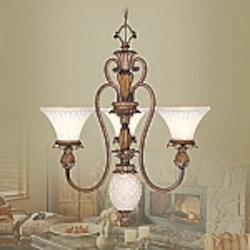 Savannah Collection 3-Light 28 1/2'' Venetian Patina Chandelier 8453-57