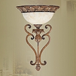 Savannah Collection 1-Light 18 3/4'' Venetian Patina Wall Sconce 8460-57