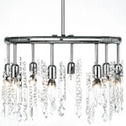 "Crystal Fusion Design 8-Light 18"" Round Chandelier Pendant with European or 30% Lead Crystals WGL85302RD SKU# 10579"