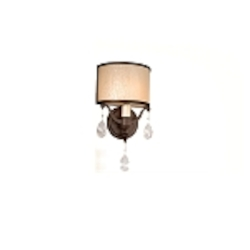 "Roma Collection 1-Light 8"" Classic Roman Wall Sconce with Cream Ice Glass and Crystal Accents 86-11"