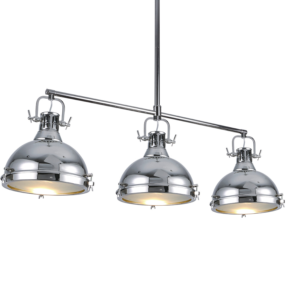 Bromi B Km031 3 Cr Essex 3 Light Island Pendant In Chrome
