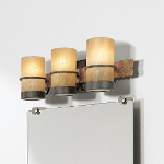 Three Light Bamboo Bronze Vanity