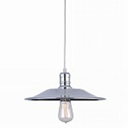 "Astor Court Industrial 1 Light 10"" Chrome Pendant - B-KM045P-1S"