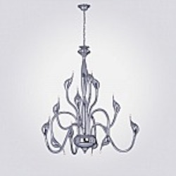 Swan Modern 12 Light Chandelier Bulbs Inc