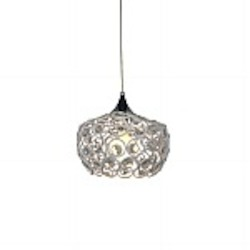 Holland 1 Light Cystal Pendant in White - B1301