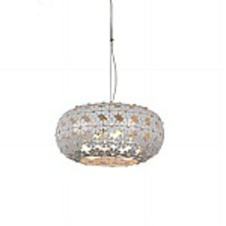 Haven 3 Light White Pendant