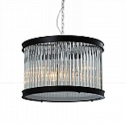 Sussex Glass and Metal 1 Light Pendant - B2501